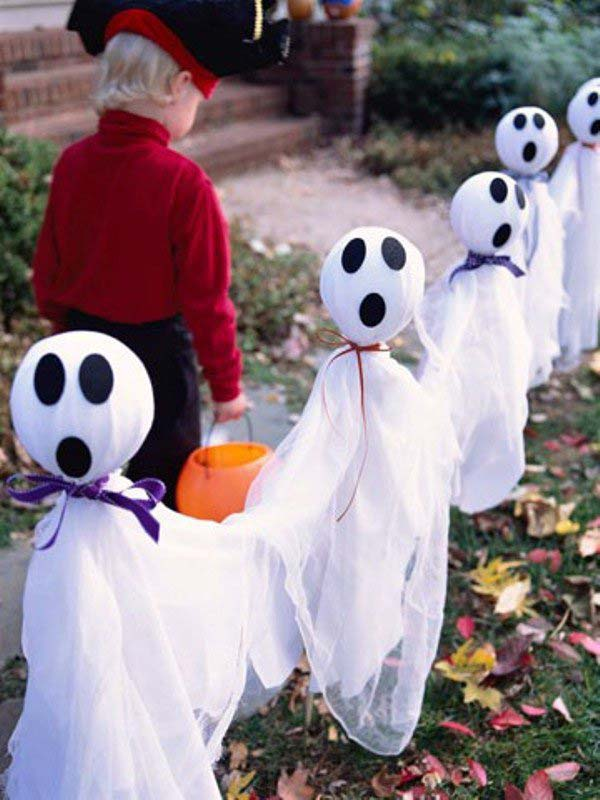 Cheap Halloween Ghost Decorations Plastic Bags