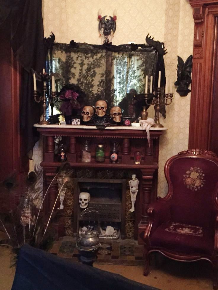 Fireplaces Halloween Decorating Ideas