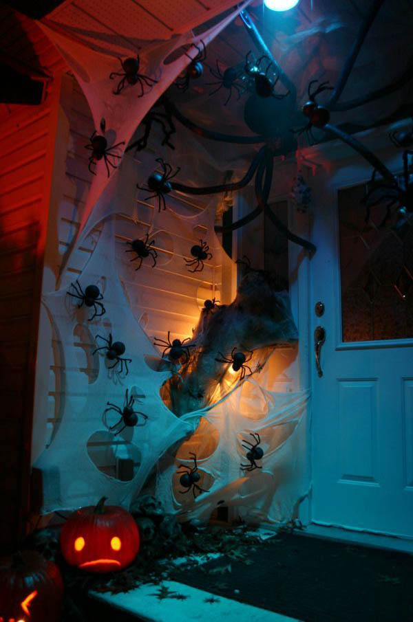 Front Porch Spooky Halloween Decorations