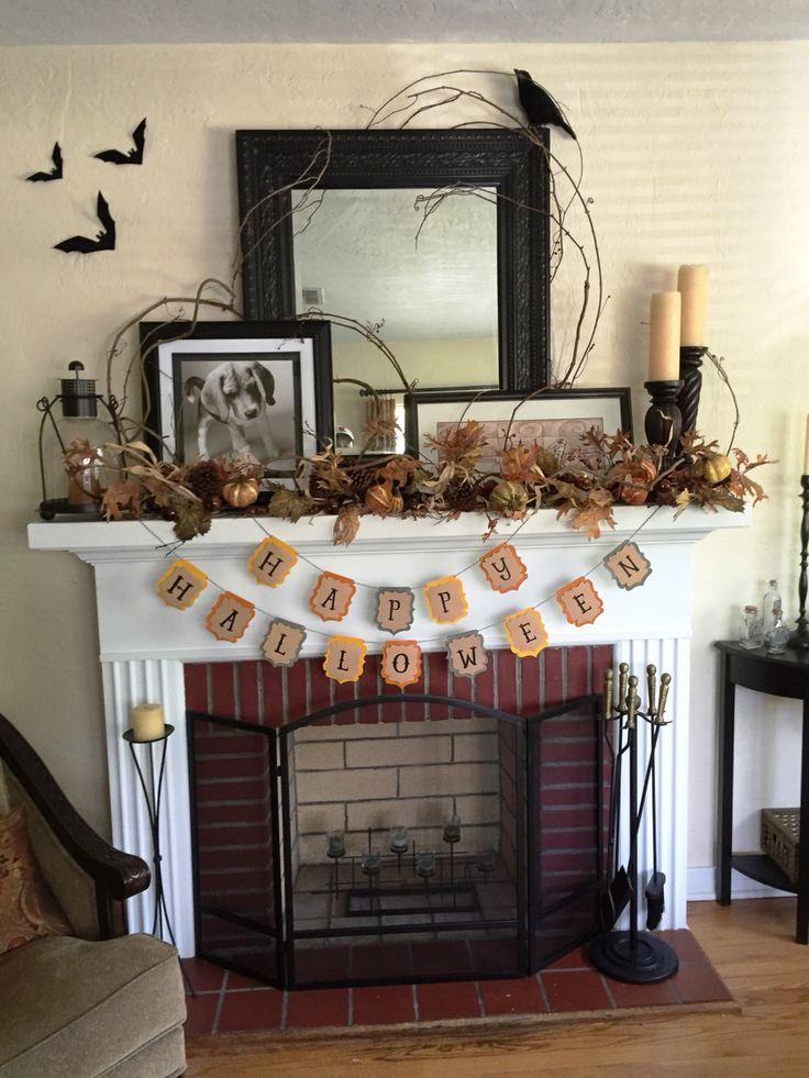 Halloween Decorations for fireplace