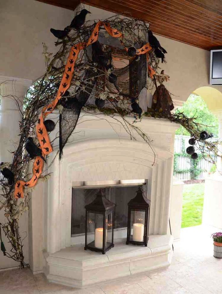 Halloween Fireplaces Mantles Decorations Ideas