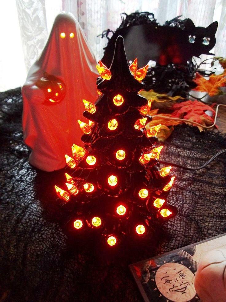 Halloween Light Tree Decoration