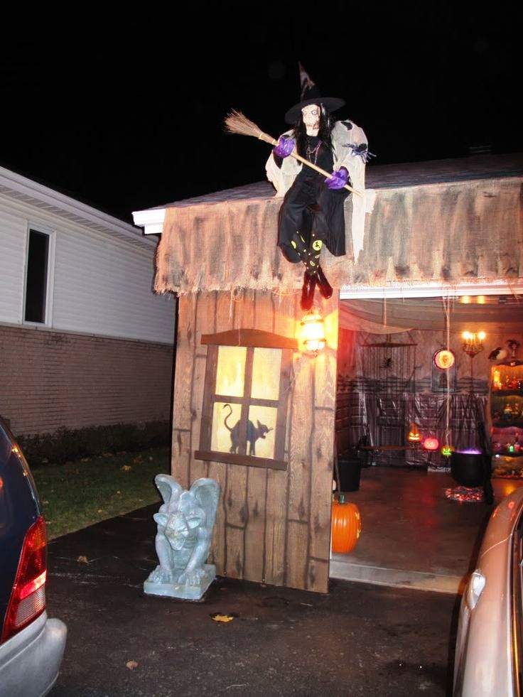 Haunted House Garage Halloween Decorations