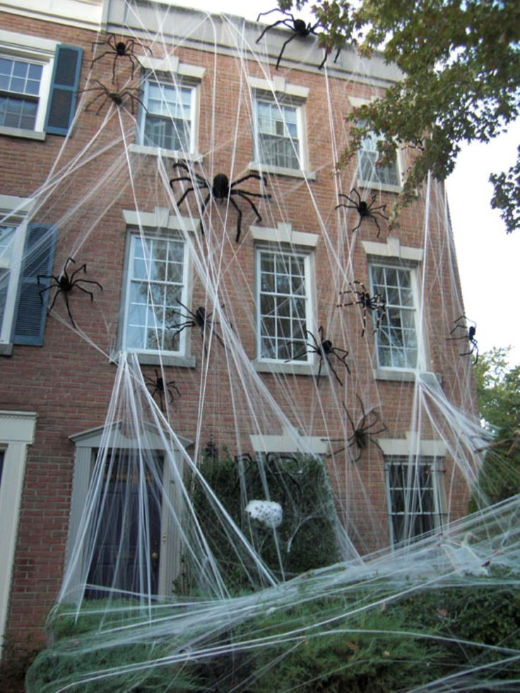 House Spiders Halloween Decorations
