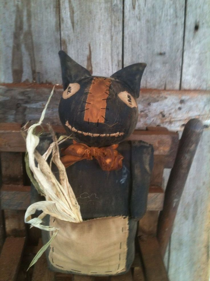Primitive Folk Halloween Decorations