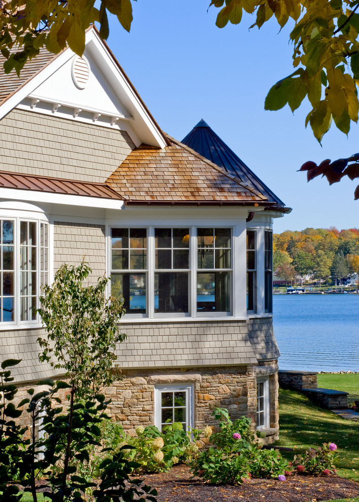 Traditional Exterior Design with Cedar Accents