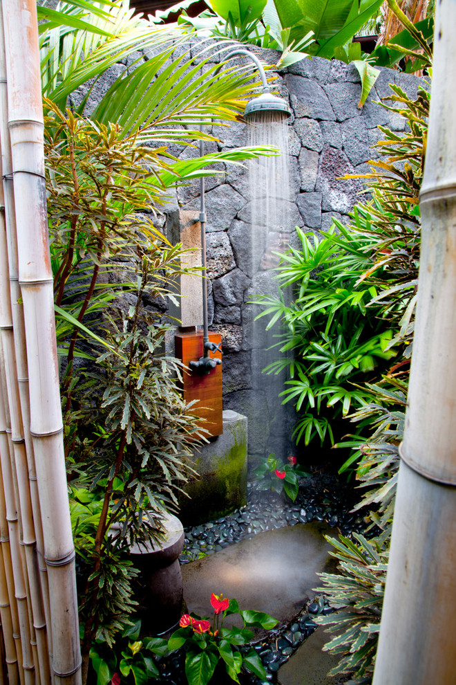 Tropical Outdoor Shower Exterior Design