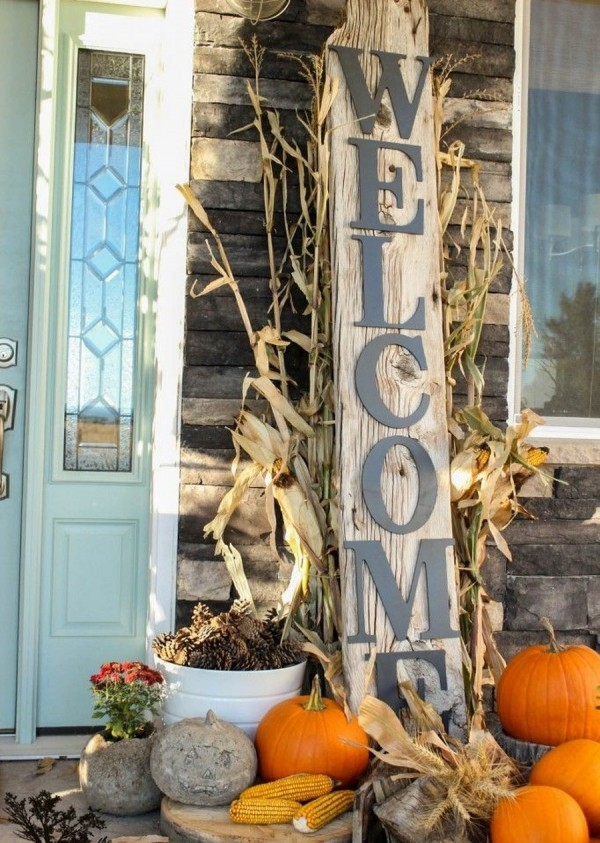 Welcome Rustic Halloween Decorations