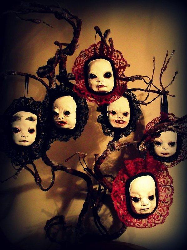spooky Halloween tree decorations