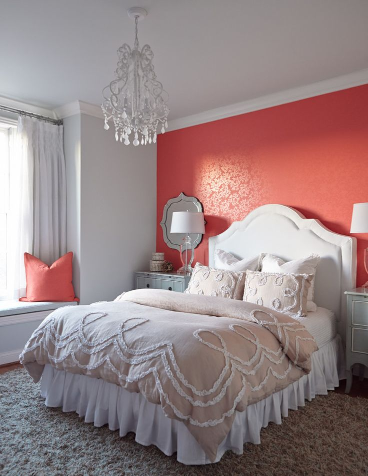 Best Coral Bedroom Design