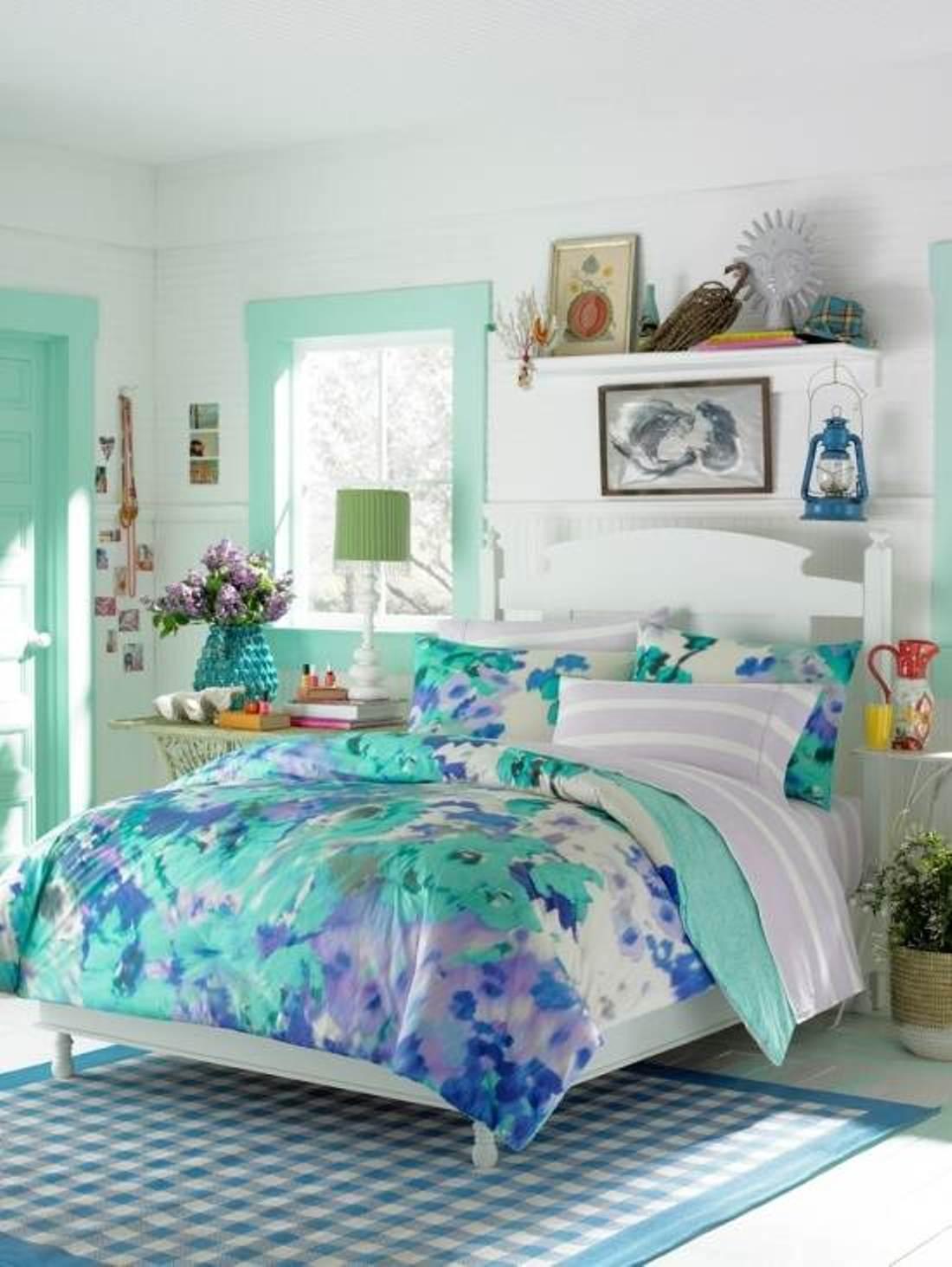 Blue Bedroom Design For Teen Girls