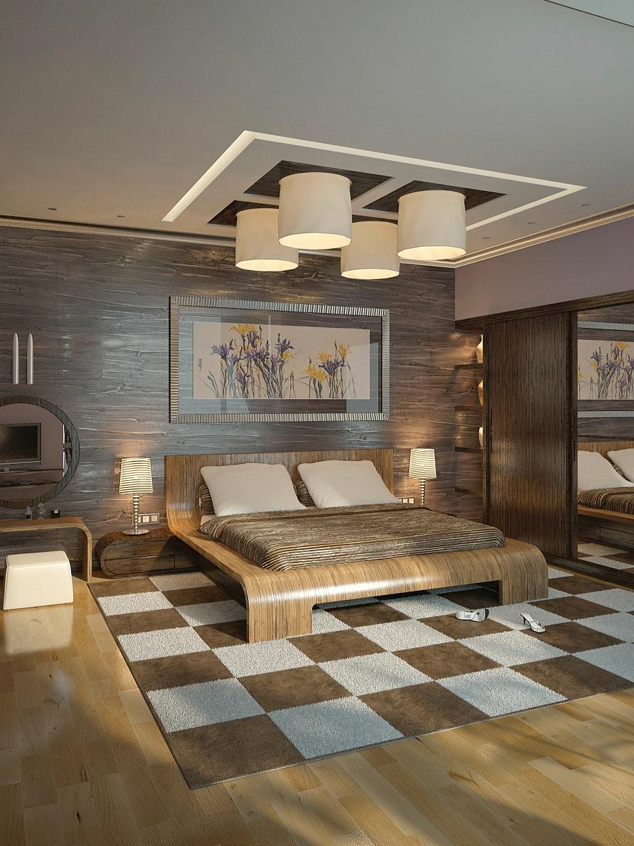Brown cream modern bedroom Design