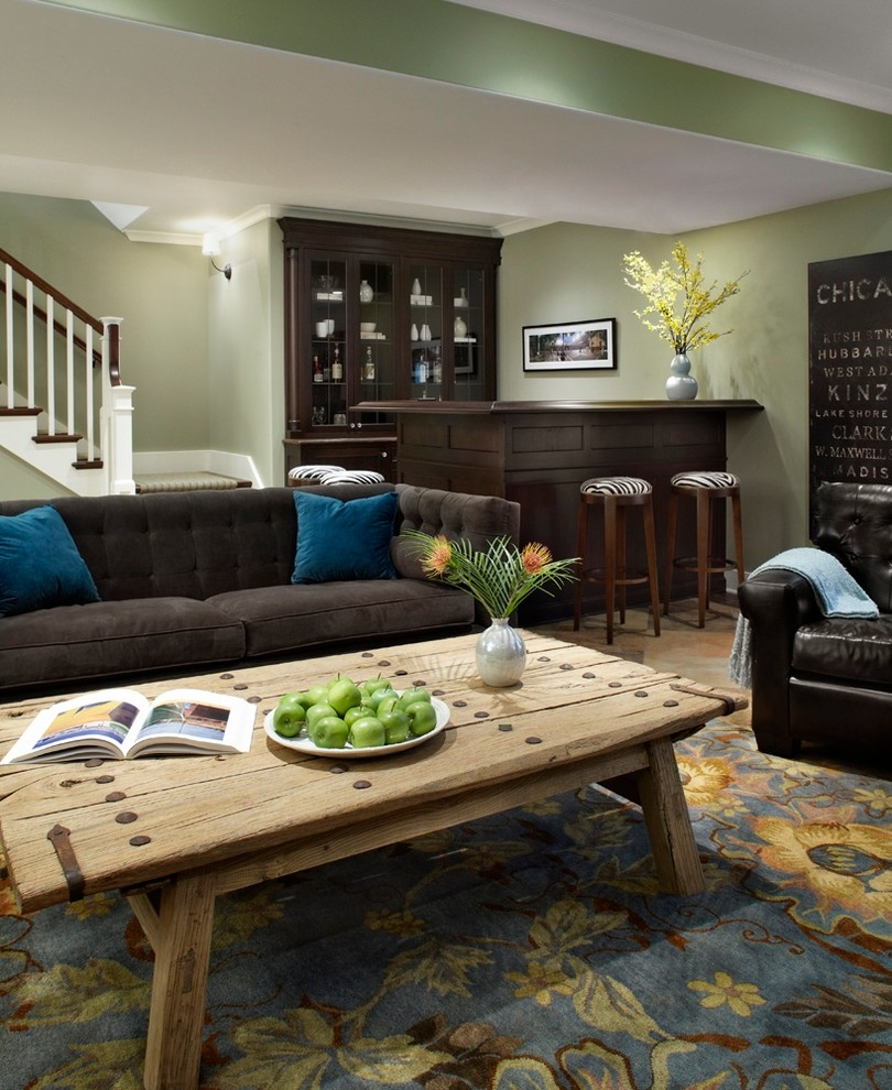 20 Pretty Traditional Basement Design Ideas