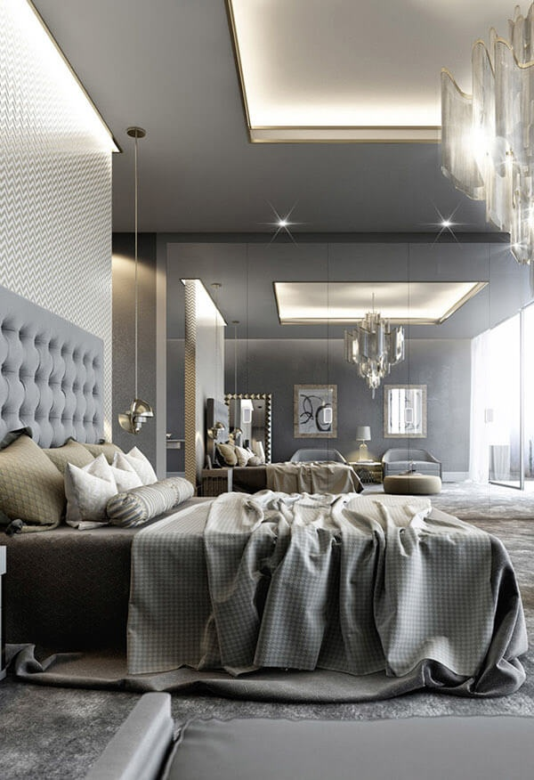 15 beautiful grey bedroom design ideas decoration love for Interior design bedroom grey