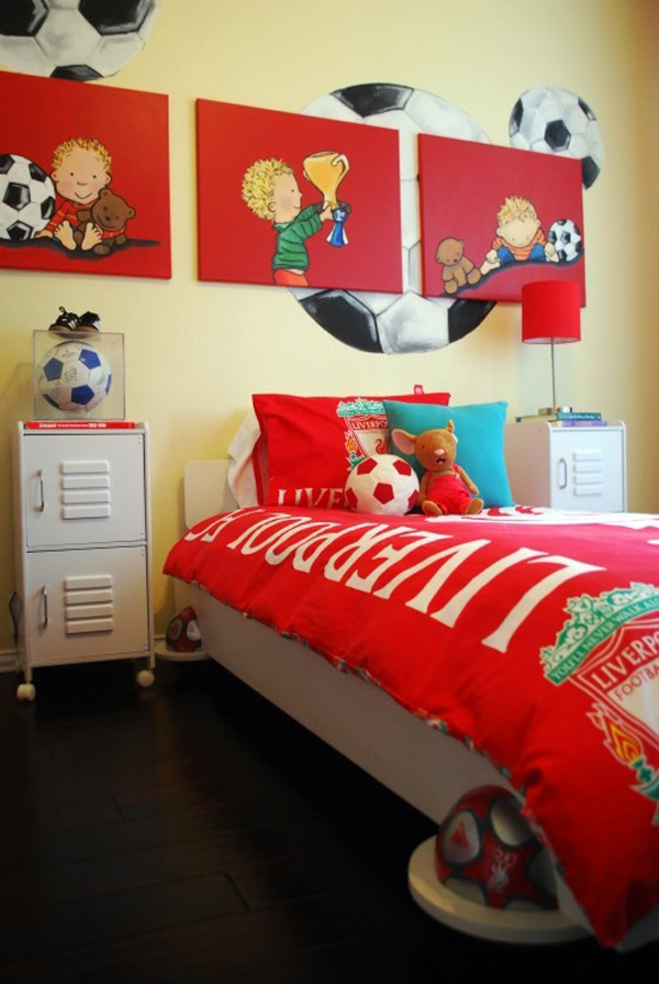 Kids Bedroom Design With Soccer Theme