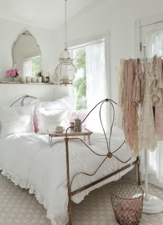 Peaceful White Bedroom Design