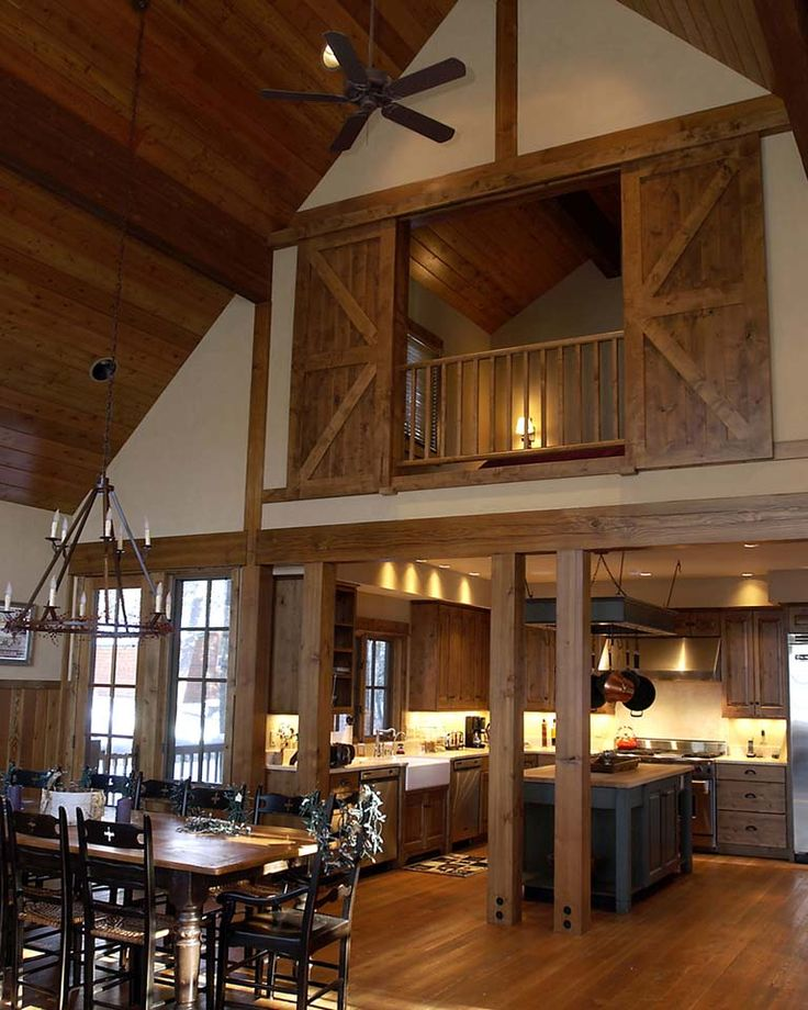 Barn with Loft Bedroom Doors