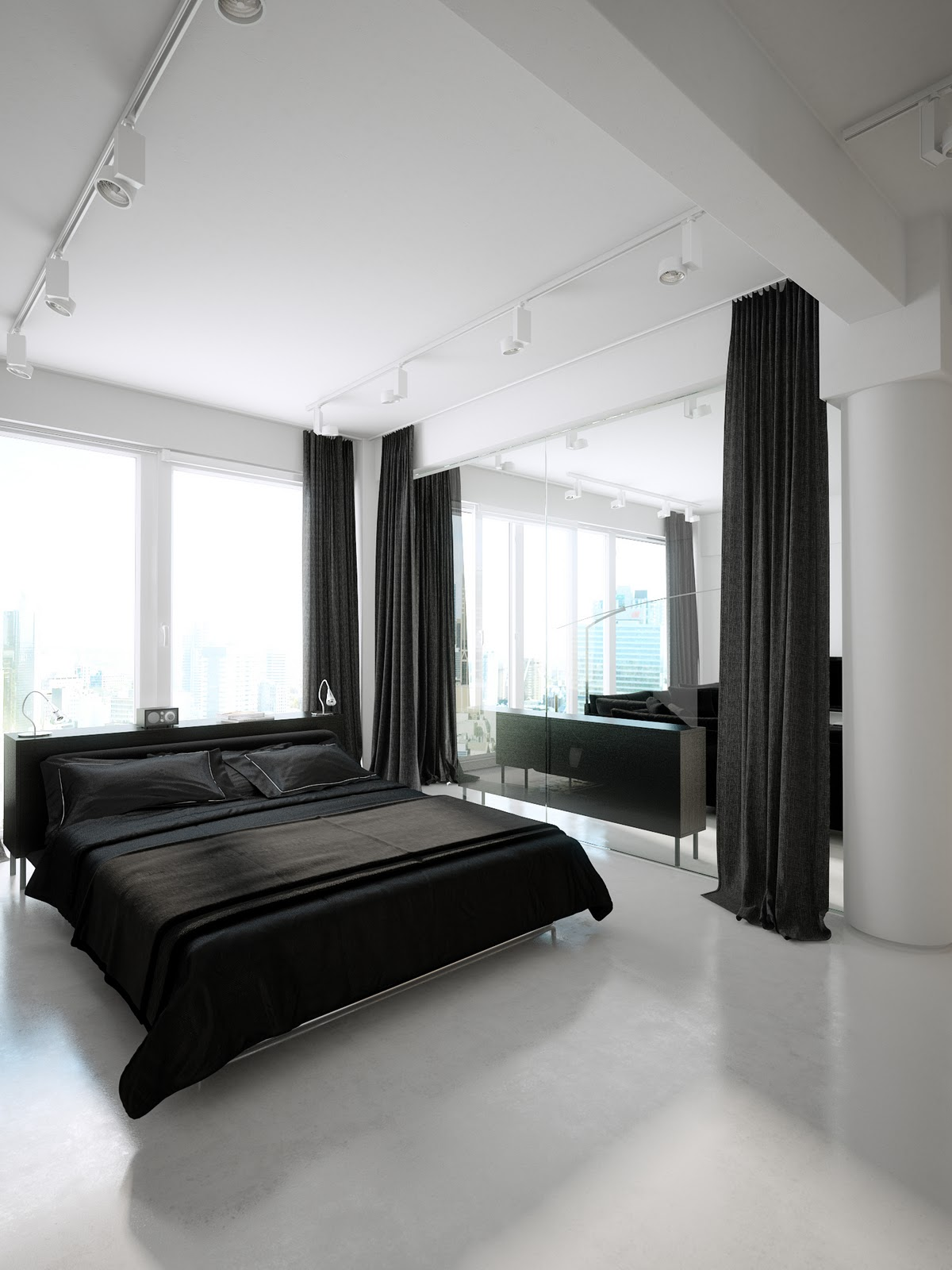 Black and White Luxury Bedroom