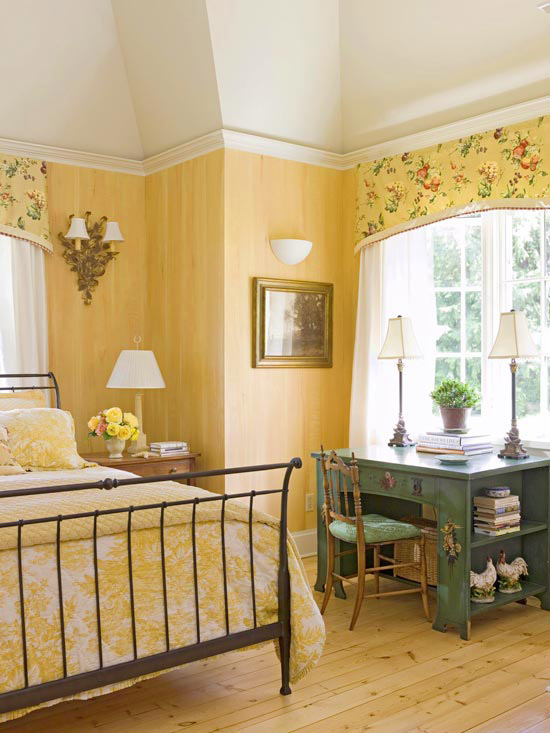 Butterscotch Yellow Bedroom