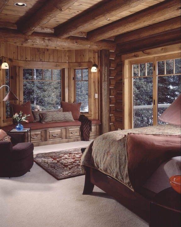 Cozy Warm Cabin Bedroom