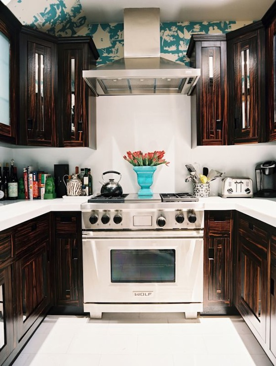 Dark Turquoise Kitchen Cabinets