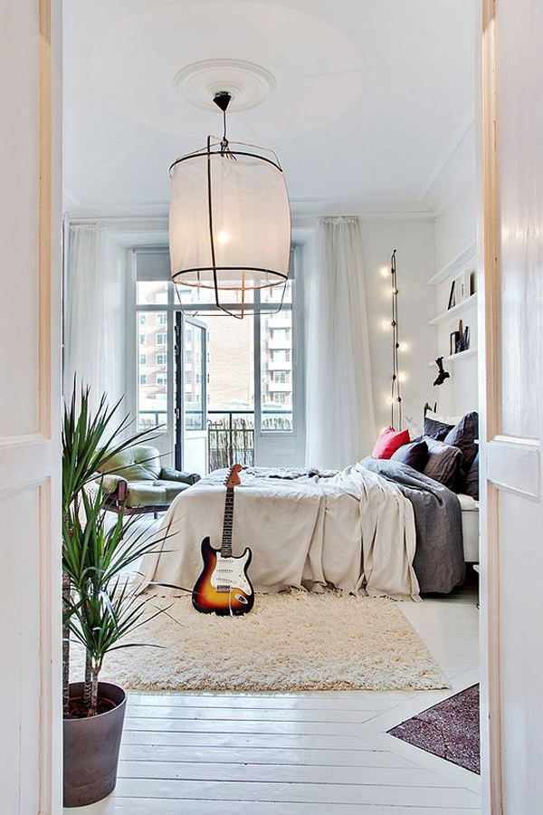 Ideas for a Hanging String Lights in Bedroom