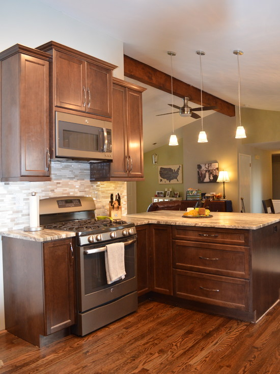 L-shaped Transitional Kitchen Design