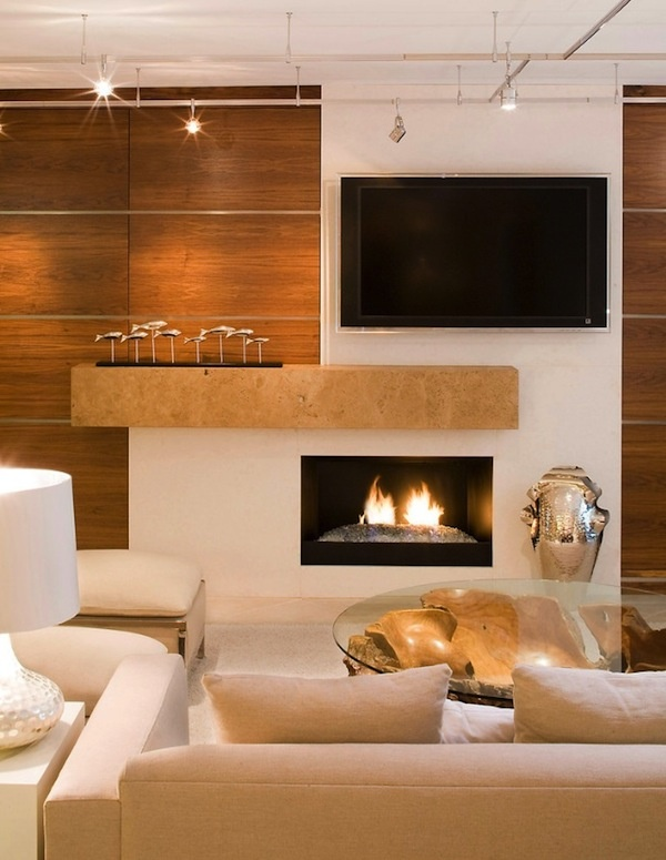 Living Room Design with TV Over Fireplace Ideas