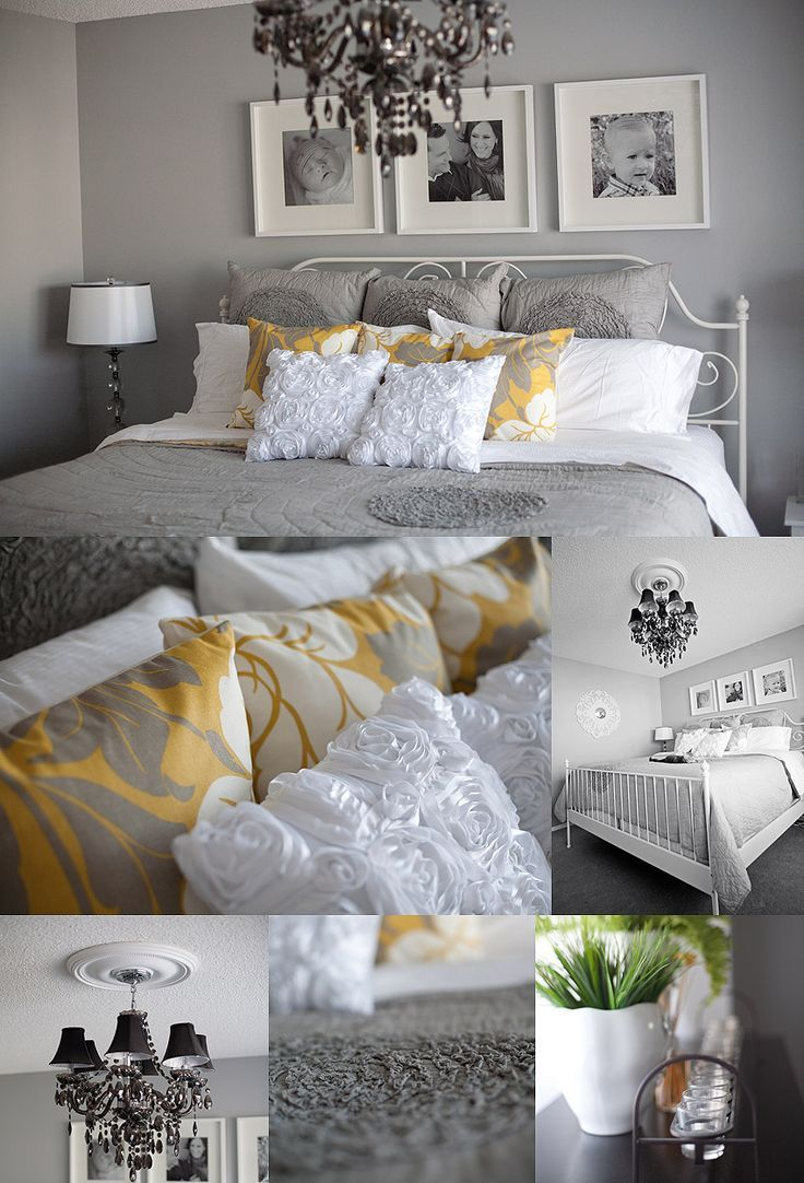 Master Bedroom Gray Yellow White