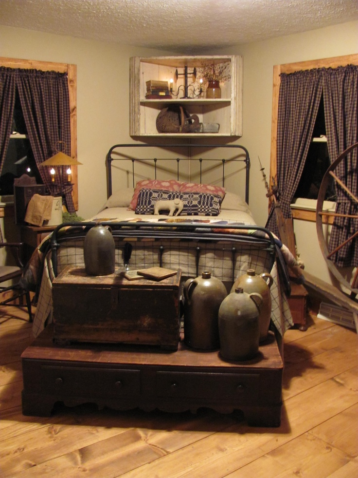 Primitive Country Bedroom Ideas