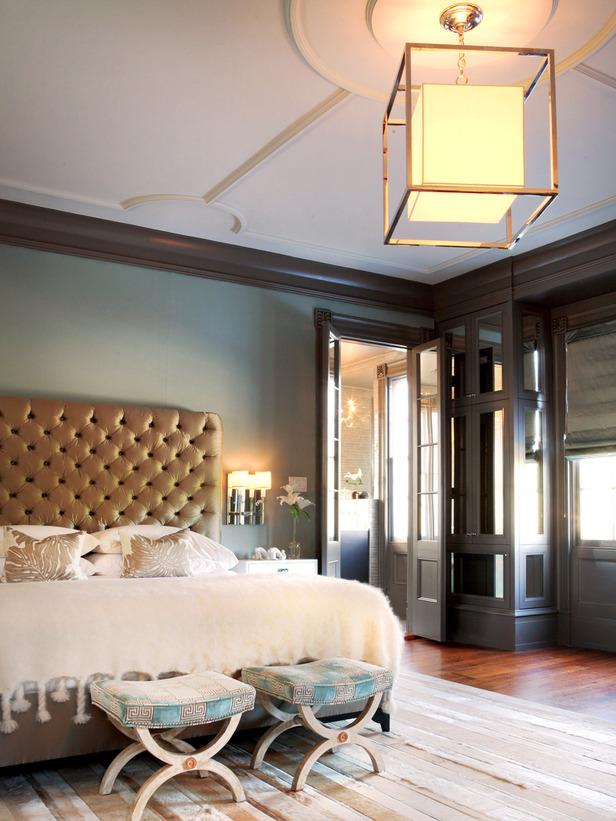 Romantic Blue Master Bedroom lights Ideas