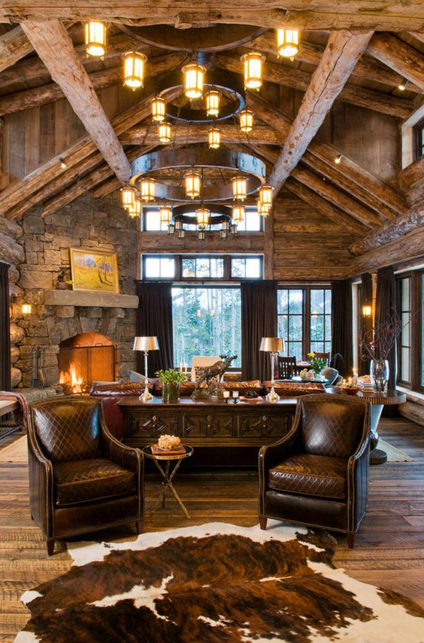 Rustic Western Living Room Designs