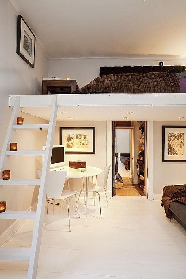 Small House with Loft Bedroom