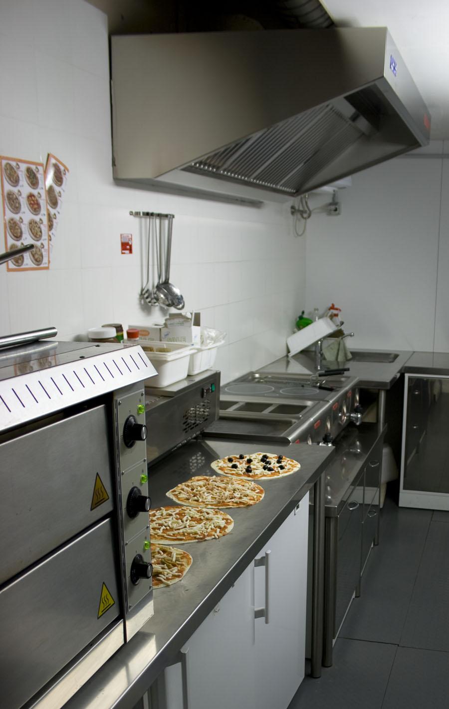 Small Kitchen Design Pizza Restaurant