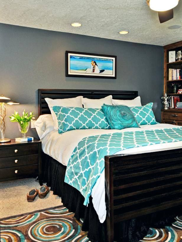 Teal and Grey Bedroom Idea
