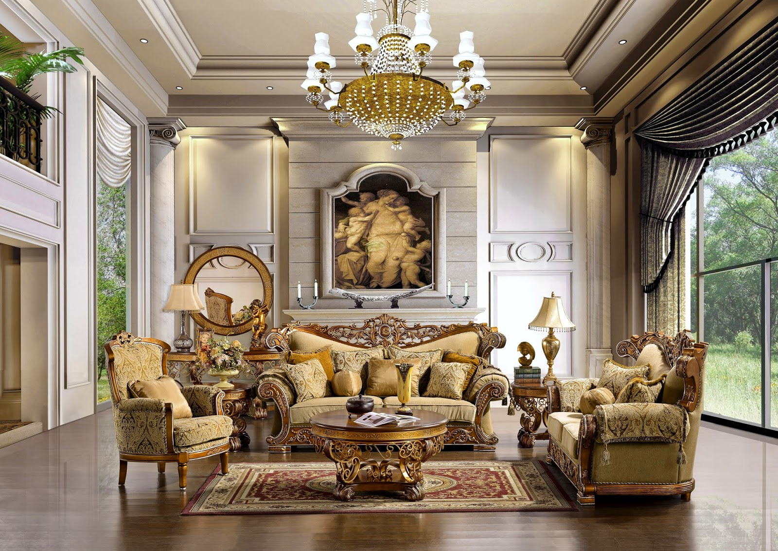 Traditional Style Living Room With Modern Twist