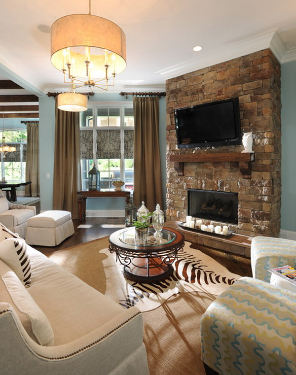 Traditional Living Room with Fireplace Ideas