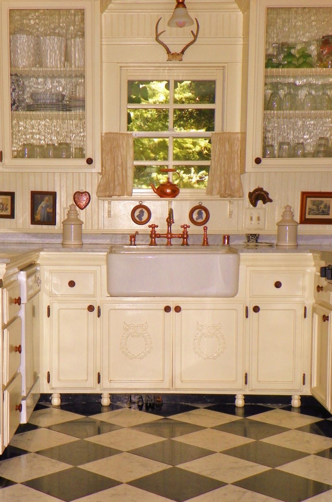 Vintage Kitchen with Farmhouse Sink