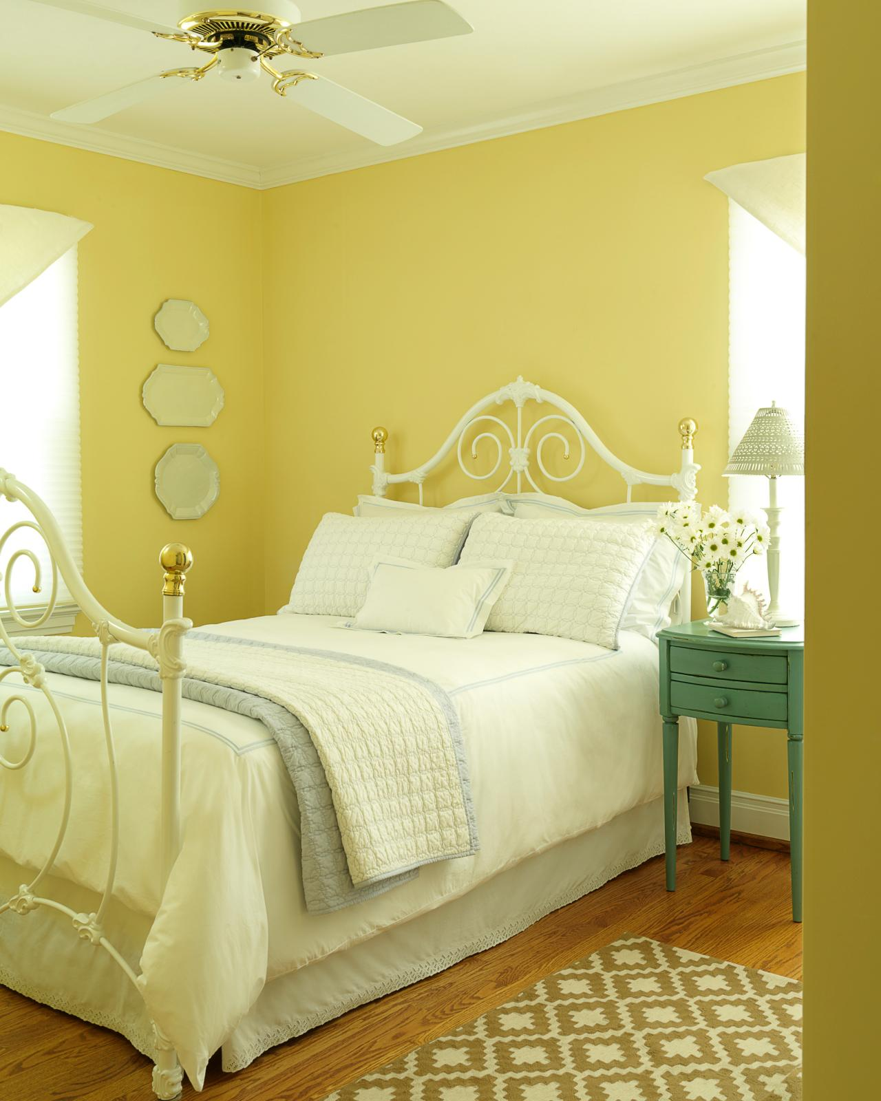 Yellow Green Bedroom Design Blinds For Bedroom Simple Bedroom Design Ideas For Girls Bedroom Colour With Black Furniture: 30 Beautiful Yellow Bedroom Design Ideas