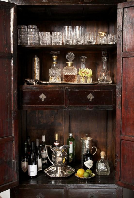 Armoire Liquor Cabinet Bar
