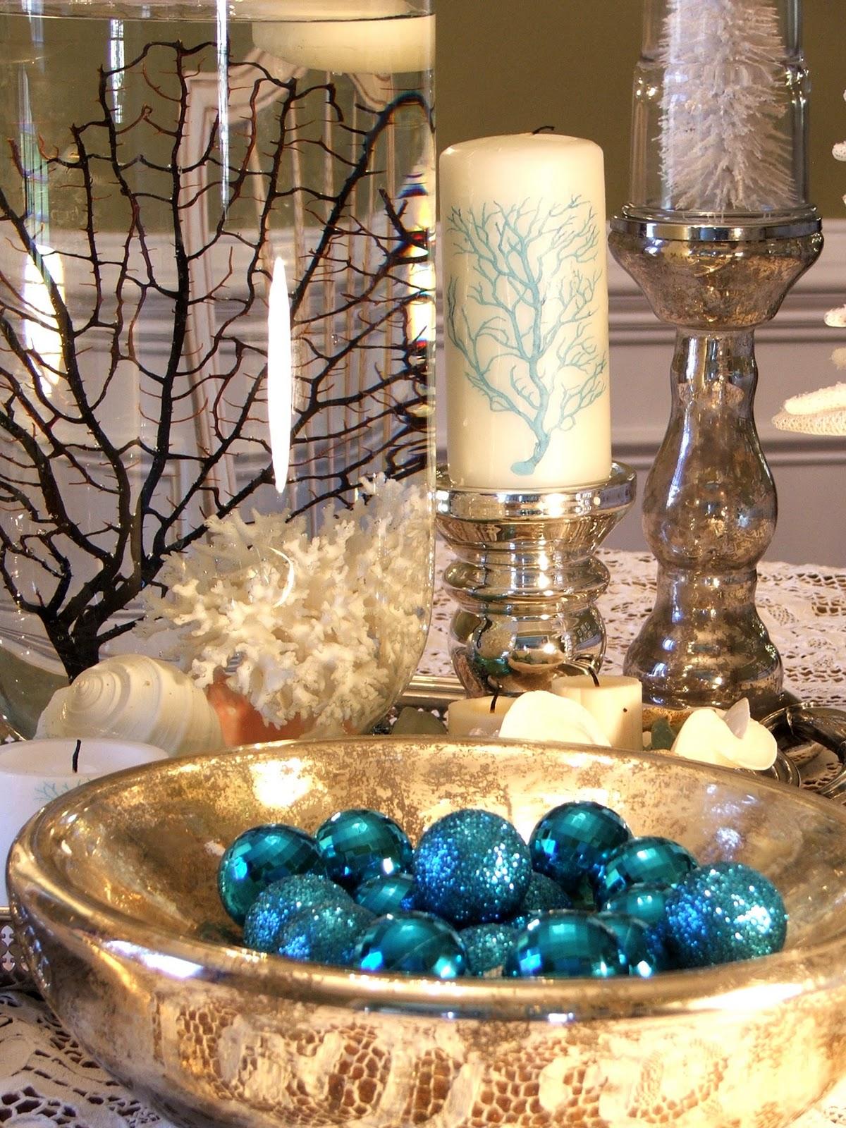 Beach Christmas Table Decorations