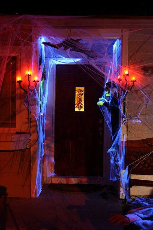 Black Light Haunted House Halloween Decoration