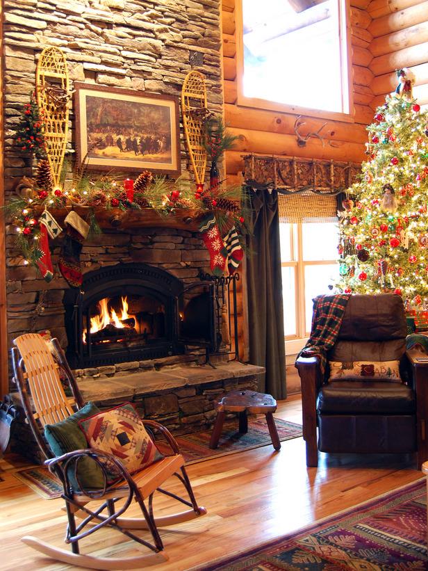 Cabin Christmas Decorating Ideas
