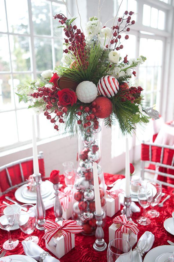 Candy Christmas Table Centerpieces Ideas