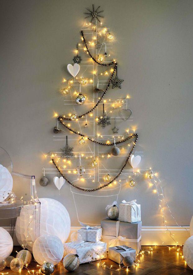 Chalkboard Christmas Tree Lights