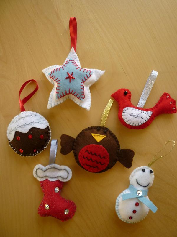 Christmas Felt Decorations Patterns