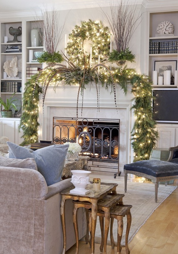 Christmas Fireplace Mantel