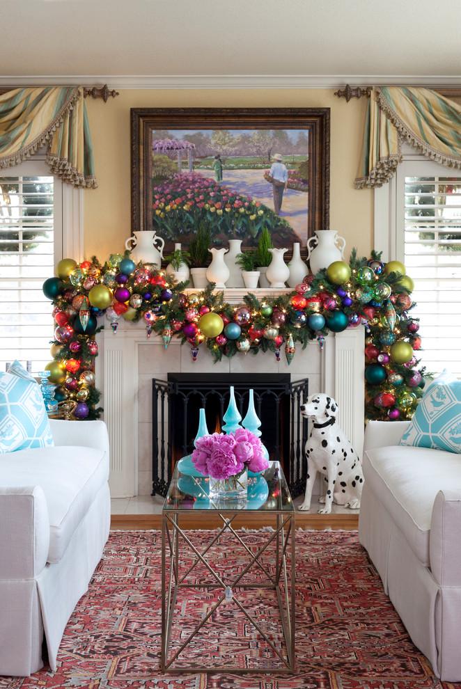 Christmas Garland Mantel Decorating Ideas