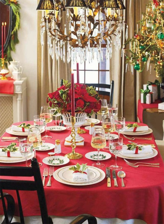 Christmas Table Decoration Ideas 2016