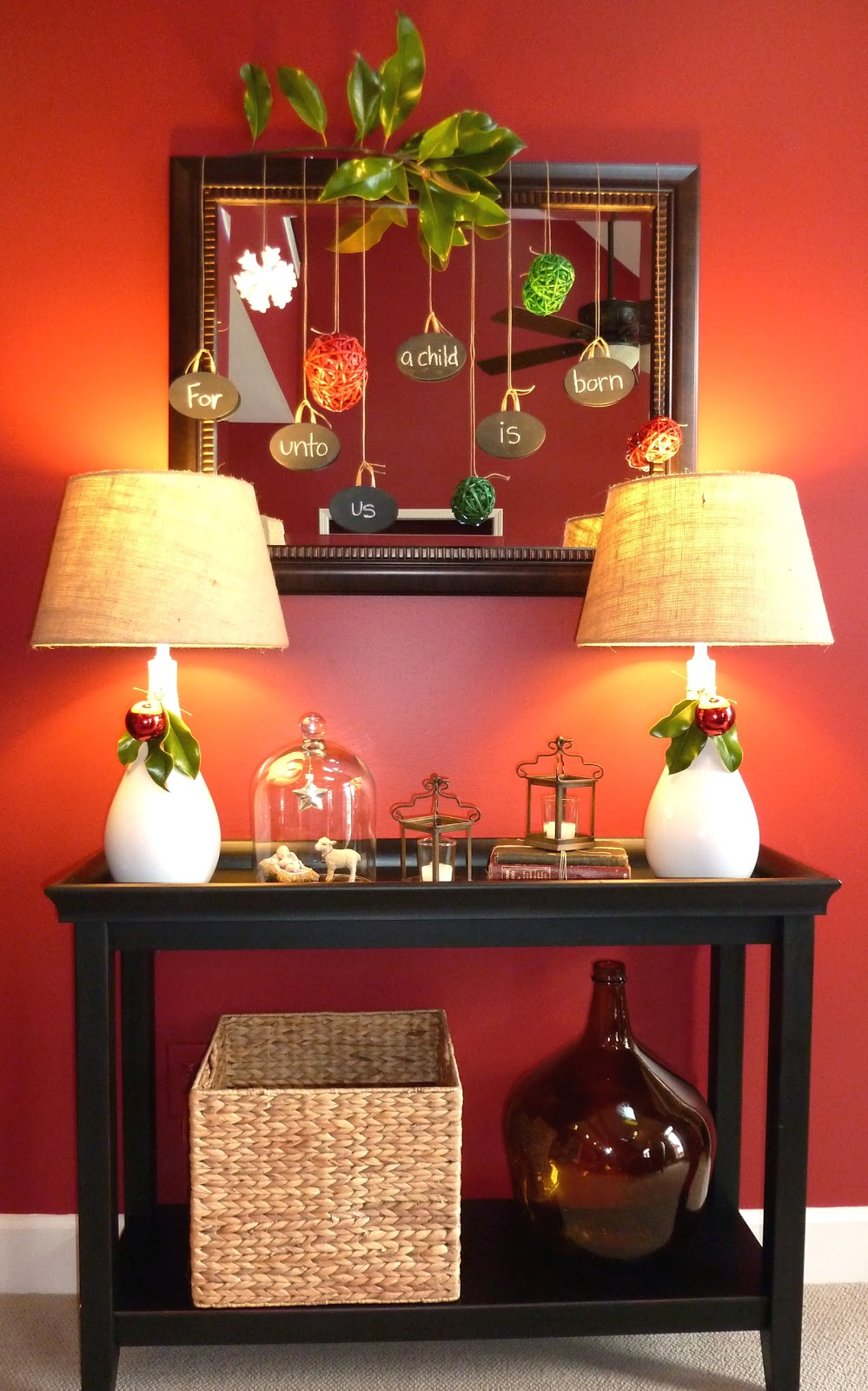 Console Table Christmas Decorating Ideas